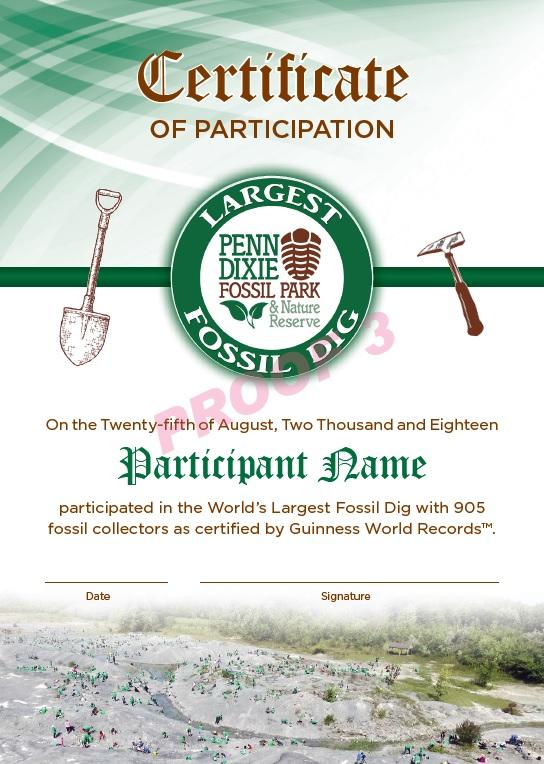 Worlds largest dig certification